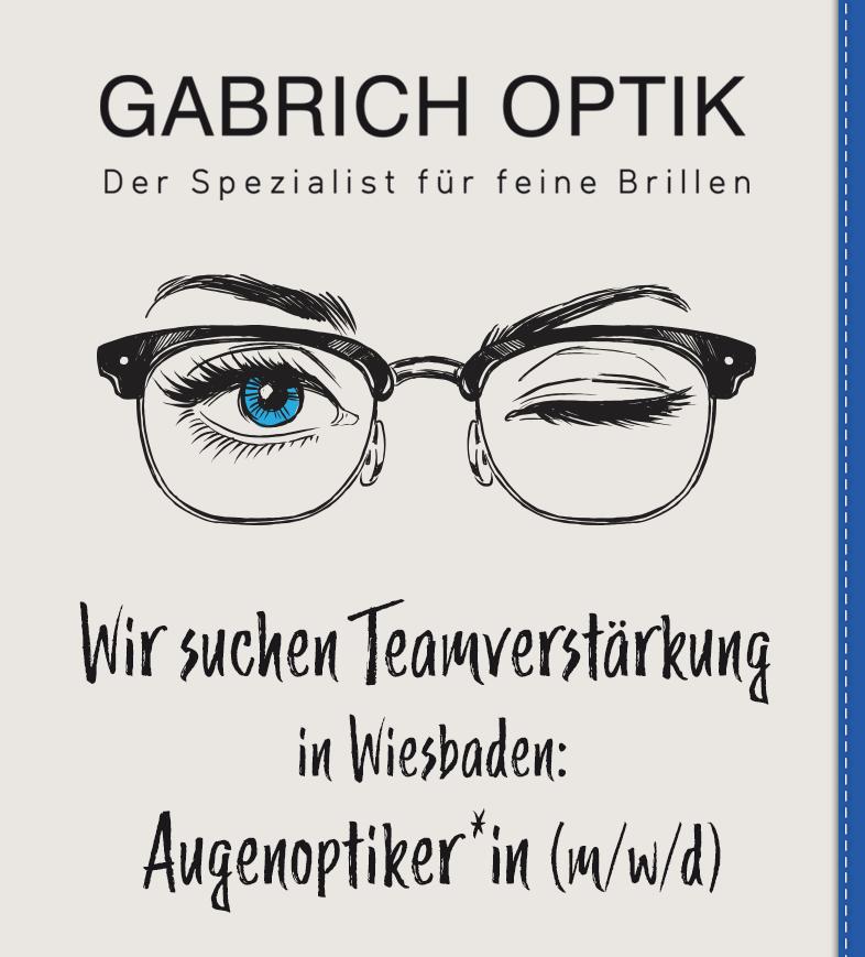 Gabrich Optik Jobangebot
