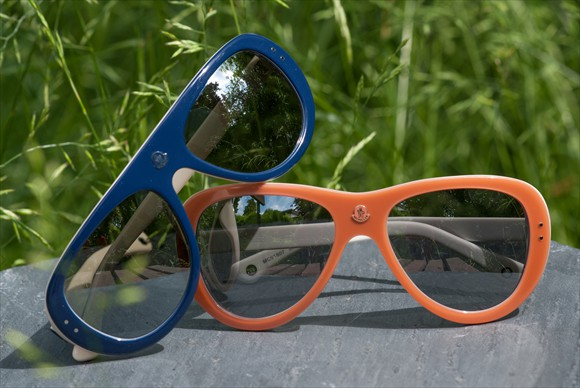 Moncler Lunettes |  Modell #3 (in Blau & Lachsrot)
