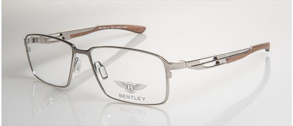 Bentley Eyewear | Modell 4 - silver with amer. walnut