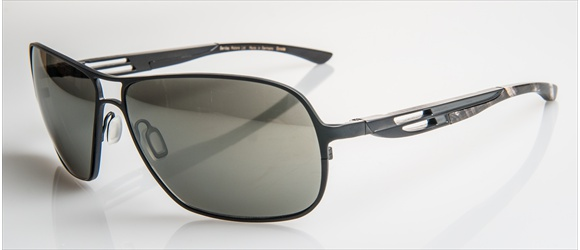 Bentley sunglass | Modell 20 - black mat with grey mel. horn