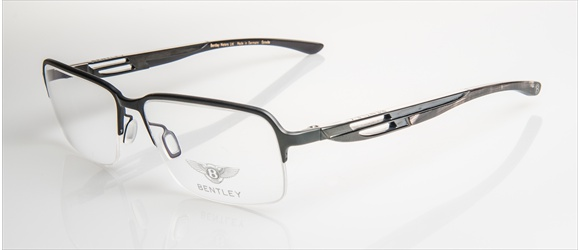 Bentley Eyewear | Modell 7 - black mat & shiny with grey mel. horn