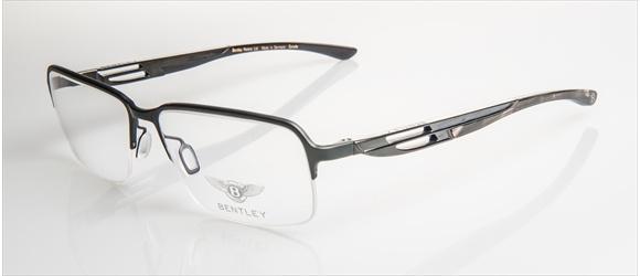 Bentley Eyewear | Modell 7 - black mat & shiny with grey mel. horn