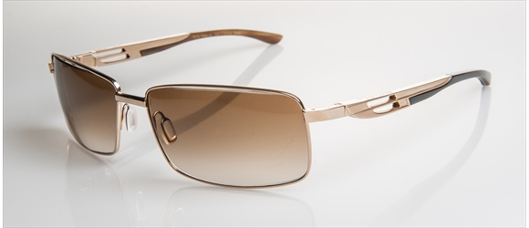 Bentley sunglass | Modell 15 - gold with dark brown horn