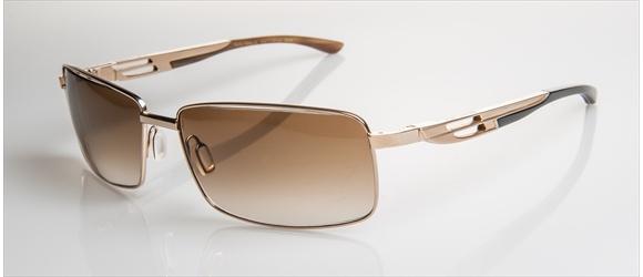 Bentley sunglass | Modell 15 - gold with dark brown horn