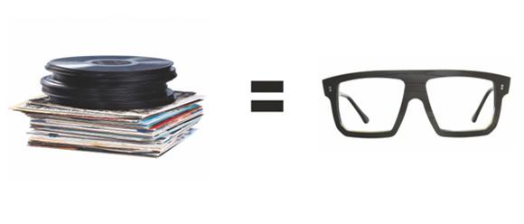 Vinyl wird zur Brille