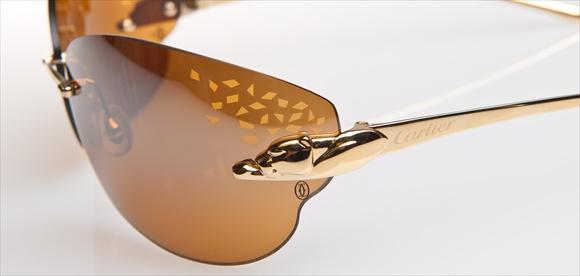 Cartier-Sonnenbrille - Serie Panthère - Scharnier im Detail