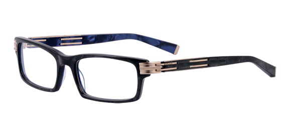 Z2002/03 Black & White gold model - Frame in cellulose acetate and titanium