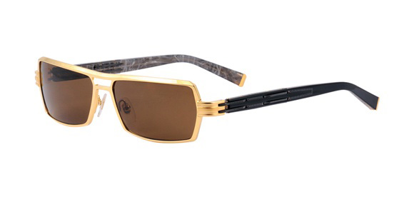 Francis Shiny gold model - 100% titanium frame