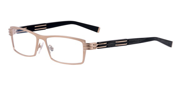 Z2002/01 Matt White Gold model - 100% titanium frame