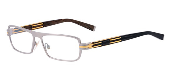 Z2002/02 Shiny ruthenium & Yellow Gold model - 100% titanium frame